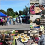 Market day cookery class collage