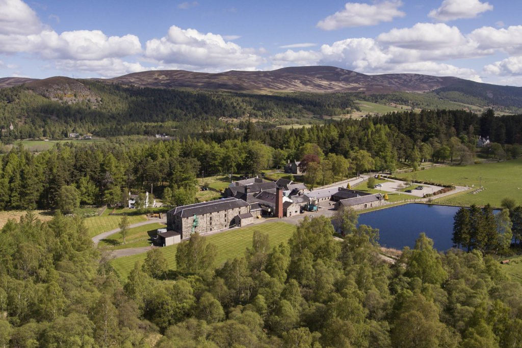 Lochnagar distillery from above