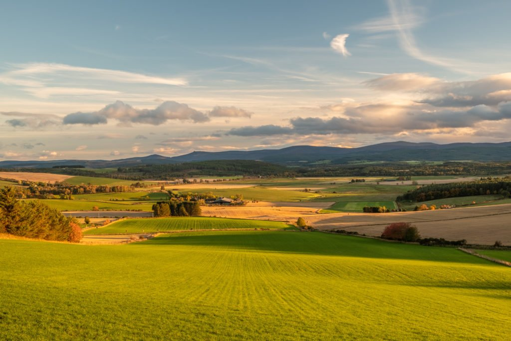 Aberdeenshire countryside. farmland
