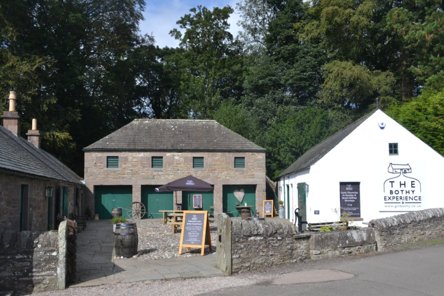 gin bothy building from outside